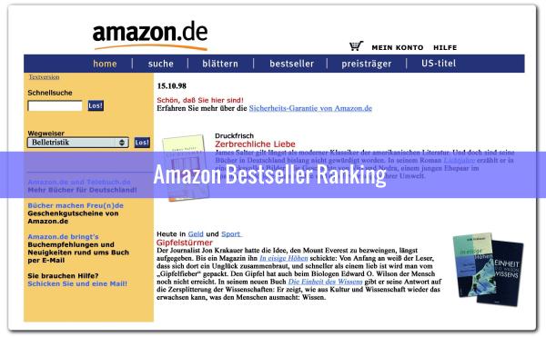Amazon Bestseller Ranking