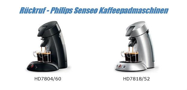 Rückruf Senseo Kaffeepadmaschine