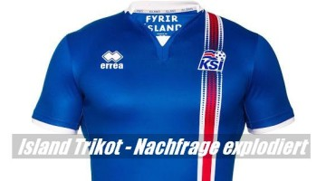 Island Trikot – Nachfrage explodiert nach Sieg über England